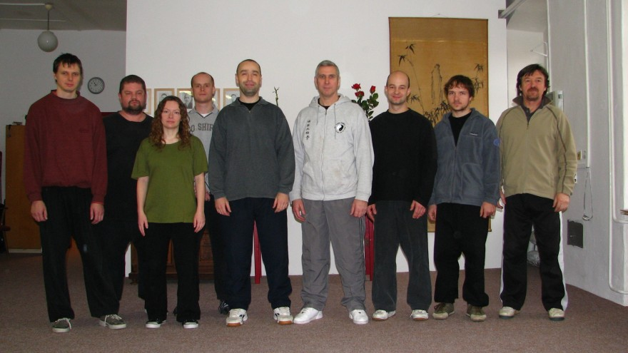 Jim Uglow and Czech instructors/teachers - Liberec, Žilina, Olomouc, Brno, Třebíš, Jihlava, Praha